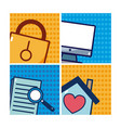 set different icons vector image