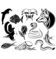 set of various tattoos vector image vector image