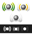 signal strenght indicators vector image vector image