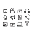 Sketched internet icons vector image vector image