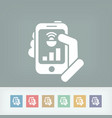 smartphone connection icon vector image