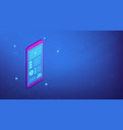smartphone interface design isometric 3d vector image