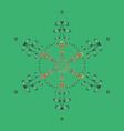 snowflake ornamental pattern snowflakes pattern vector image vector image
