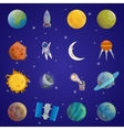 Space Universe Icon Set vector image vector image