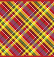 summer seamless pattern madras check fabric vector image vector image