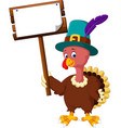 turkey bird cartoon vector image vector image