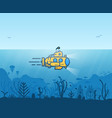 underwater yellow submarine vector image
