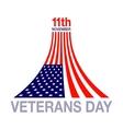 Veterans day flag design logo emblem vector image vector image