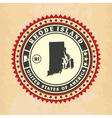 Vintage label-sticker cards of Rhode Island vector image