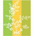 Wallpaper with leaves vector image vector image