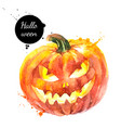 watercolor hand drawn sketch halloween scary vector image