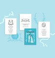 wedding stationery blue vector image vector image