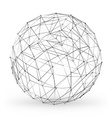wireframe polygonal geometric element sphere vector image