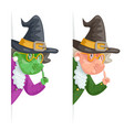 witch wise advice look out corner grandmother vector image vector image