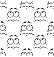Seamless pattern with crying comics faces vector image