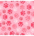 pattern seamless of background animal pink vector image