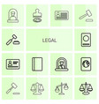 14 legal icons vector image vector image