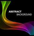 abstract background with colourful line wave vector image vector image