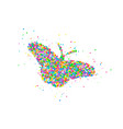 abstract butterfly splash vector image vector image