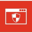 Antivirus icon design Firewall Antivirus symbol vector image