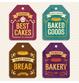 Bakery Labels vector image vector image