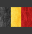 belgian grunge flag abstract textural background vector image vector image