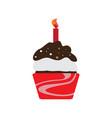 birthday cupcake icon vector image vector image