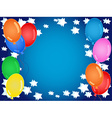 Birthday or other celebration background in blue vector image vector image