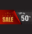 black and red final sale banner design vector image vector image