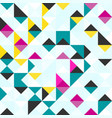 bright colored polygons abstract geometric vector image vector image