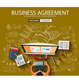 Business Agreement concept wih Doodle design style vector image vector image