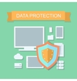 Business data protection and cloud network vector image vector image