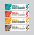 business horizontal banner templates vector image