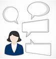 Business woman and speech bubbles vector image vector image