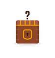 cartoon question box like treasure vector image