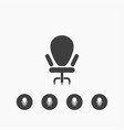 chair icon simple vector image vector image