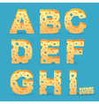Cheese alphabet vector image vector image
