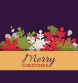 christmas greeting card invitation with vector image vector image