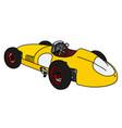 classic yellow racing car vector image