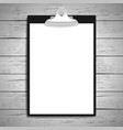 clipboard with paper vintage background vector image vector image