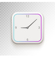 clock ui phone app or widget digital clock vector image