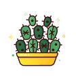 color line icon cactus vector image vector image