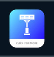 Construction light stadium mobile app button