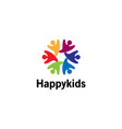 creative colorful abstract happy people logo vector image