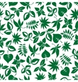 Dark green leaves retro seamless pattern vector image vector image