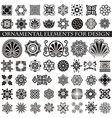 decorative items to decorate your work vector image vector image