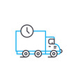 delivery terms thin line stroke icon vector image