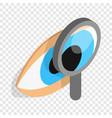 eye exam isometric icon vector image vector image