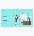 financial deal broker online marketing vector image vector image