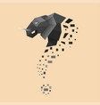 flat elephant turned into question sign vector image vector image